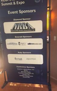 REOMAC sponsorship sign